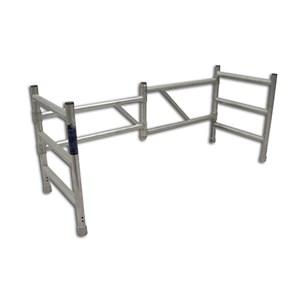 Rehausse pliante pour échafaudage en aluminium type pliable