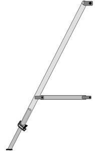 Stabilisateur pour échafaudage en aluminium type pliable