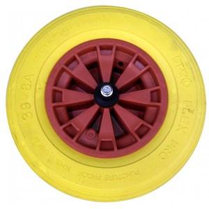 Brouette renforcée avec pneu plein jaune